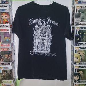 🚨 2 For $15 Zombie Jesus Game of Bones T-shirt